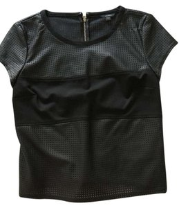 Guess Leather Top Black