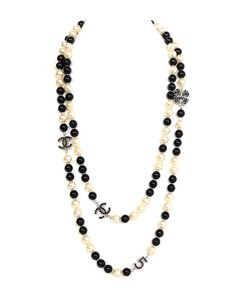 Chanel Chanel Pearl & Beaded Long Charm Necklace