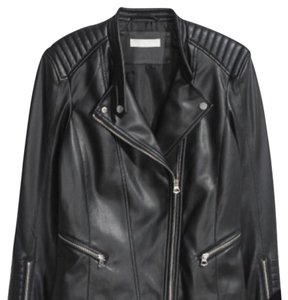 H&M faux leather jacket black Leather Jacket