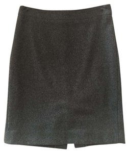 J.Crew Wool Pencil Classic Skirt Charcoal Gray
