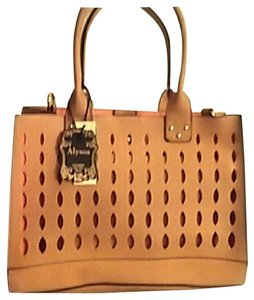 Alyssa Tote in Orange and Tan