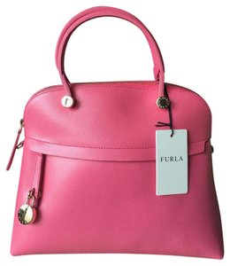 Furla Trapeze-shaped Made In Italy Top Handled Structured Exquisite Satchel