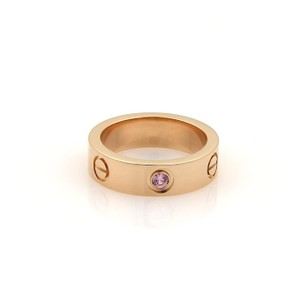 Cartier Cartier Love 1 Pink Sapphire 18k Rose Gold 5.5mm Band Ring Size 52-US6