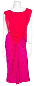 Donna Karan short dress Red & Magenta on Tradesy