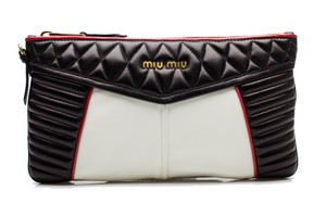 Miu Miu Leather Black Clutch
