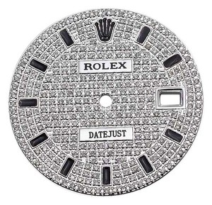 Rolex Full Pave Set Diamond Dial for Rolex Datejust 2 41 MM Watch 2 tone