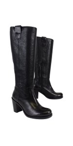 Boemos Black Pebbled Leather Boots