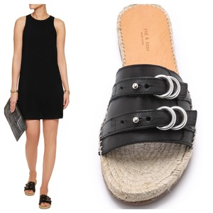 Rag & Bone Espadrille Leather Blaxk Sandals
