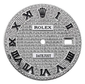 Rolex Roman Number Pave Set Diamond Dial for Rolex Datejust 1 36mm Watch