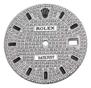 Rolex Full Pave Set Diamond Dial for Rolex Datejust 1 36mm Watch 2 tone