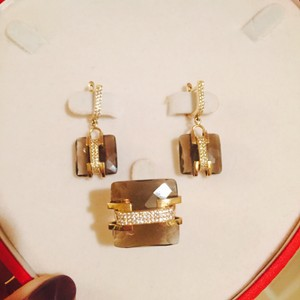 Other 14K yellow gold earrings and ring set