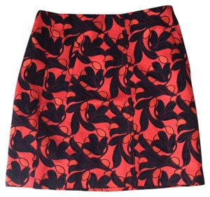 Ann Taylor Skirt orange, black and brown