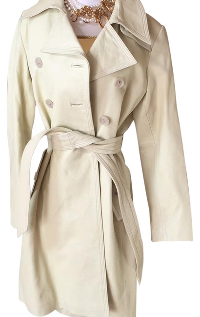 Item - Light Green Leather By Coat Size 12 (L)
