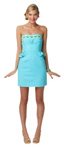 Lilly Pulitzer Peplum Strapless Embroidered Dress