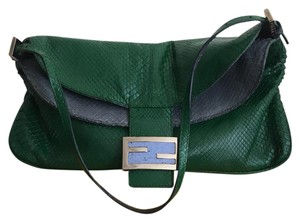 Fendi Satchel in green & blue