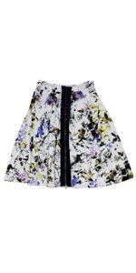 Elizabeth and James Printed Zip Midi Skirt
