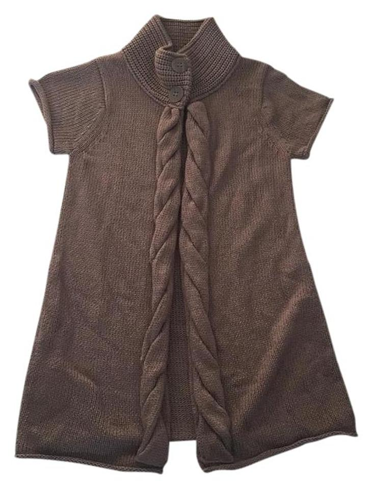 Promod Taupe Short Sleeve Swing Cardigan Vest Size 4 (S) from ...