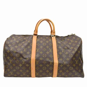 2318f458091a Louis Vuitton Keepall Keepall 50 Neverfull Speedy Bandouliere Brown Travel  Bag