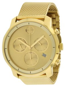 Movado Movado Bold Gold-Tone Stainless Stel Chronograph Mens Watch 3600372