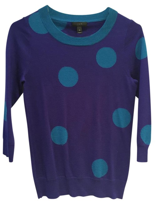 Preload https://img-static.tradesy.com/item/20987923/jcrew-in-polka-dot-sweaterpullover-size-2-xs-0-1-650-650.jpg