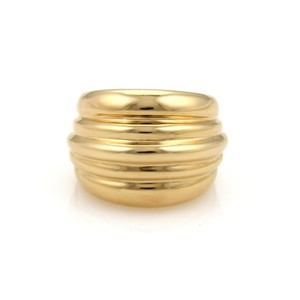 Cartier Cartier 18k Yellow Gold High Dome Ribbed Design Ring Size 6.5