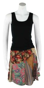 Other Hippie Boho The Treasured Hippie Handmade Patchwork Mini Skirt Tan
