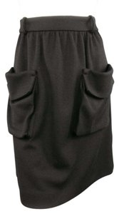 Chloé A-line Patch Pocket Oversized Skirt Black