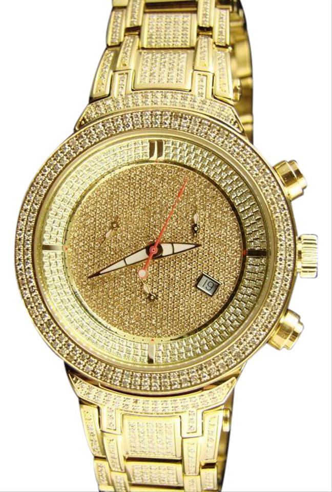 Yellow Gold Finish Joe Rodeo/Jojo Master Jjm14 522 Diamond 4 75 Ct Watch  55% off retail