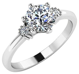14k White Gold Wedding Engagement Ring Available In Sizes 5 6 7 8 9
