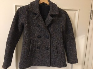 Theory Wool Peacoat Cropped Coat