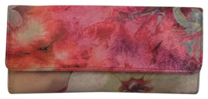 Hobo International Floral Print Leather Clutch