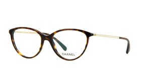 Chanel NEW Chanel Swarovski Pave Cat Eye Eyeglasses 3293B Brown
