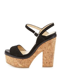 Jimmy Choo Sandal Wedge Black Platforms