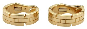 Cartier Cartier Tank Francaise 18k Yellow Gold 6.5mm Wide Hoop Earrings