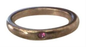Tiffany & Co. Elsa Peretti Sterling Silver band ring with pink sapphire