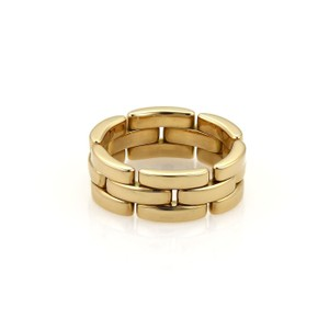 Cartier Cartier Maillon Panthere 18kt Yellow Gold 7mm Wide Band Ring EU 54-US