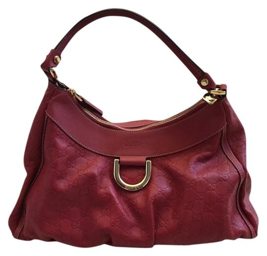 Gucci Leather D-ring Hobo Bag Image 0