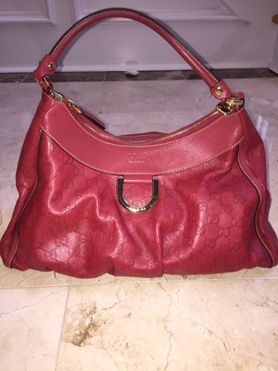 Gucci Leather D-ring Hobo Bag
