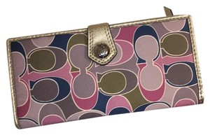 Coach Ashley Scarf Print and wallet.