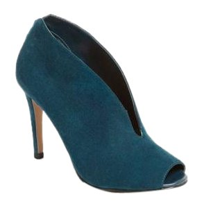Halogen Suede Stiletto Teal Boots