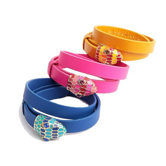 Kate Spade New Kate Spade Spice Things Up Snape Wrap Bracelet Blue Leather