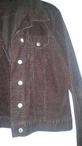 Lands' End Studded Corduroy Jean Chocolate Brown Jacket