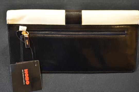 Hobo International Leather Black/White/Red Clutch