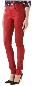 Alice + Olivia Skinny Pants Salmon (orange/red)