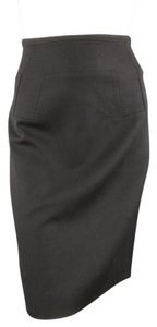 Givenchy Pencil Pattern Stitch Italian Lined Skirt Black