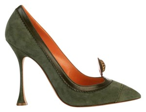 Manolo Blahnik Green/Orange Pumps