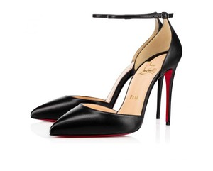 Christian Louboutin Ankle Strap Uptown Louboutin Uptown Louboutin Louboutin 100mm Black Pumps