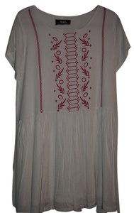 Lulu*s short dress White & Red Lined Embroidered Summer on Tradesy