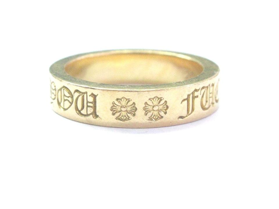 6bfd2ea4ae42 Chrome Hearts Chrome Hearts 22Kt FU K YOU 6mm Spacer Yellow Gold Ring Sz  12.5 ...