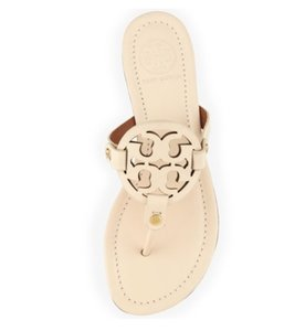 Tory Burch Miller Logo Thong Ivory Vanilla Cream Sandals